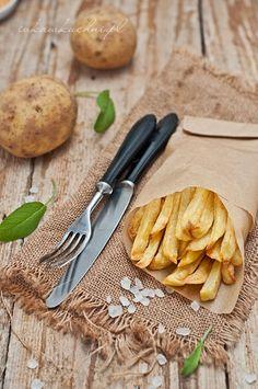 Ivka w kuchni - przepisy i fotografia : Domowe frytki z piekarnika