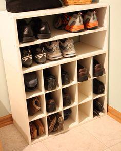 Mud room shoe rack