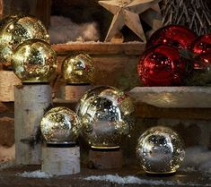 I own the gold ones. I decorate throughout the year with these.