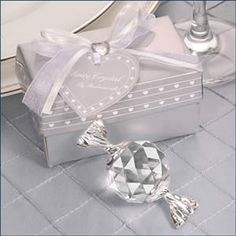 Crystal Candy Wedding Favors in Gift Box