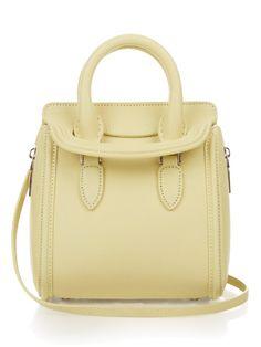 ALEXANDER MCQUEEN Heroine Mini Grained-Leather Bag. #alexandermcqueen #bags #shoulder bags #hand bags #suede #lining
