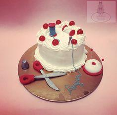 Dressmaker whipped cream cake