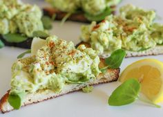 Avocado Egg Salad Sandwiches with Watercress (Mayo-Free!) - an easy 4-ingredient lunch recipe | theroastedroot.net