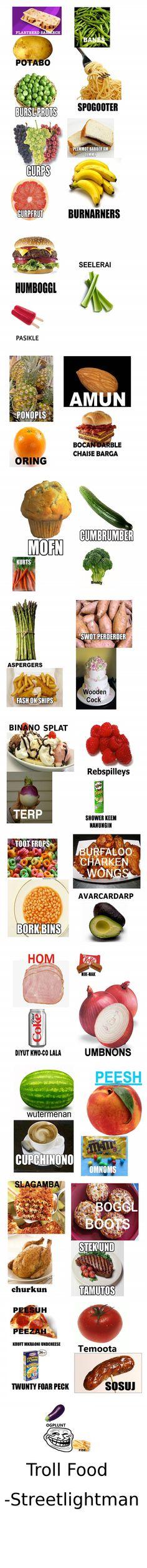 Troll Food Names