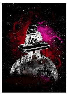 You can't cry in space because your tears won't ever fall. Square Art, Square Canvas, Astronaut Wallpaper, Astronauts In Space, Poster Design, Dj Music, Galaxy Design, Graffiti Art, Graffiti Wallpaper