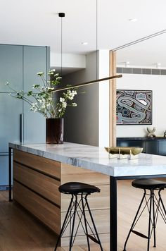 Modern Interior Design, Interior Architecture, Australian Interior Design, Timber Kitchen, Stylish Kitchen, The Design Files, Cuisines Design, Home Decor Kitchen, Beautiful Kitchens