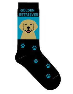 Golden Retriever Dog Socks Lightweight Cotton Crew Stretch Egyptian Made $9.99 at DogLoverStore.com