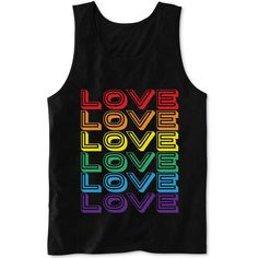 Hybrid Men's Love Tank ($13) ❤ liked on Polyvore featuring men's fashion, men's clothing, men's shirts, men's tank tops, tank tops, shirts, tops, black, mens graphic t shirts and mens multi colored striped shirt