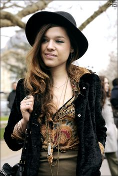 Hippie Chic Girl - FW - Paris - Photo by Easy Fashion Fred