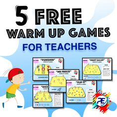 ✅ 5 Free Physical Education Warm up Games - For Teachers
