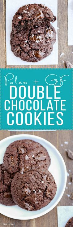 14 Must-Try Paleo Chocolate Dessert Recipes Even your most intense chocolate craving doesn't stand a chance against these Paleo Double Chocolate Cookies! These super chocolatey cookies are gluten free and refined sugar free. Double Chocolate Cookies, Paleo Chocolate, Chocolate Desserts, Chocolate Wafers, Chocolate Biscuits, Chocolate Chips, Paleo Baking, Gluten Free Baking, Gluten Free Desserts