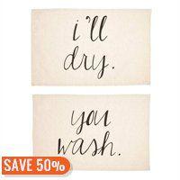 Tea Towel – You Wash, I'll Dry, Set of 2