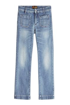 Seafarer Straight Cropped Jeans In Power Stretch Medium Vintage Cropped Jeans, Seafarer, Style Inspiration, Denim, Fashion Designers, Cotton, Pants, Vintage, Outfits