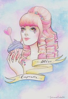 Miss Cupcake by Juliana Rabelo, via Behance