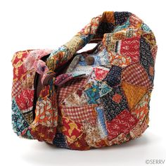Recycled Sari Patchwork bag - for the friend who appreciates a multitude of pattern and fabric! It's recycled, too! #giftswithpurpose #serrv #fairtrade