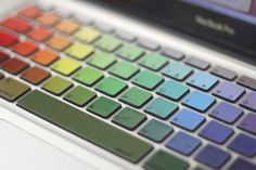 I would love this on my Mac!  So cute!  Rainbow Keyboard