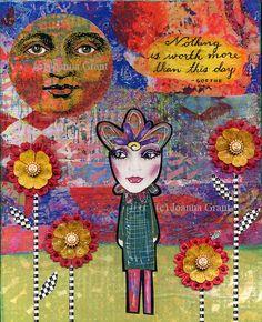 ORIGINAL Mixed Media Inspirational Art THIS DAY by JoannaGrantArt on Etsy