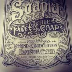 """Beautiful Type — Another really great """"vintage"""" work from David..."""