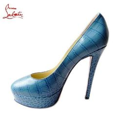 Chaussure Louboutin Pas Cher Pompe Plates-formes Croco #chaussure