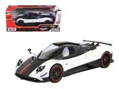 Pagani Zonda 5 Cinque White/Black 1/18 Diecast Car Model by Motormax http://autopartstore.pro/AutoPartStore/