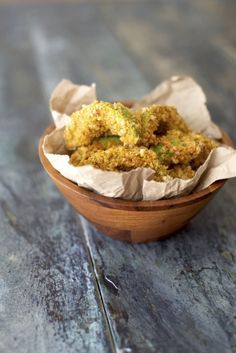 If carrot fries aren't your thing, these gooey avocado fries rolled in crushed pork rind batter will remind you of why you love the healthy fat so much (but really, could we ever forget?). Get the recipe here.