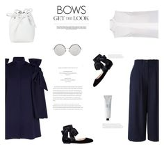 """""""BOWS"""" by canvas-moods ❤ liked on Polyvore featuring Delpozo, Dion Lee, Gianvito Rossi, Erika Cavallini Semi-Couture, Byredo, Linda Farrow and Whiteley"""