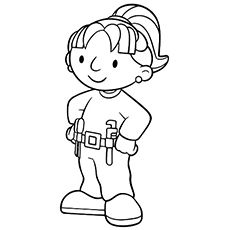 tapemeasure picture to color | tape-measure - free coloring pages ... - Construction Worker Coloring Pages