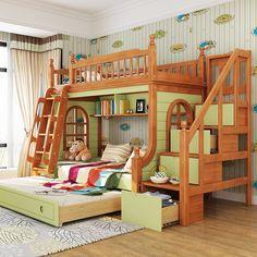 Giường tầng cho bé trai cao cấp G509