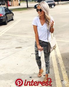 Jake stopping traffic for this classy Sams Club parking lot picture. // Jake and I are running all the errands today- so I wore my fav camo pants! // Shop this look using the link in m Look Fashion, Fashion Outfits, Womens Fashion, Fashion Trends, Club Fashion, Fashion Edgy, Fashion Fashion, High Fashion, Fashion 2018
