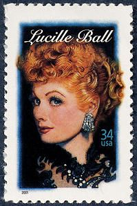 Did you know Lucille Ball was a Girl Scout? The Postal Service issued a 34-cent Lucille Ball Legends of Hollywood commemorative stamp in Los Angeles, California, on August 6, 2001. The stamp was designed by Derry Noyes of Washington, DC, and illustrated by Drew Struzan of Pasadena, California.