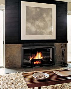 Contemporary fireplace...