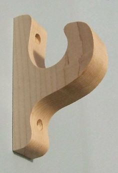 Wooden Curtain Rod Holders