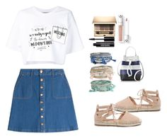 """Untitled #253"" by mevi140213 ❤ liked on Polyvore featuring HUGO, Moschino, Bamboo, Edward Bess, Clarins and Furla"