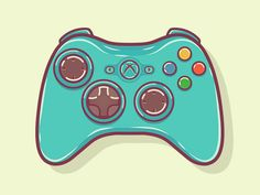 Illustration, Icon, Pixel Art Xbox 360 Controller - Xbox Games - Trending Xbox Games for sales - Xbox 360 Controller by Graphi. Video Game Art, Video Games, Video Game Decor, Playstation, Outdoor Fotografie, Sims 4 City Living, Sims 4 Expansions, Nintendo Controller, Nintendo Sp