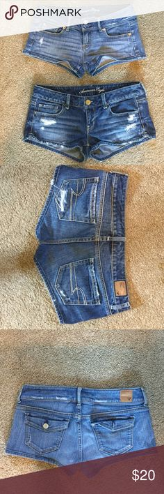 American Eagle Jean Shorts AE Jean Shorts. Great condition, comes from pet and smoke free home. Let me know if you have any questions. American Eagle Outfitters Shorts Jean Shorts