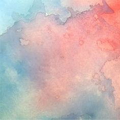 Amazing blue and red watercolor texture 無料ベクター