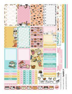 Free Printable Neko Atsume Planner Stickers from Organized Potato