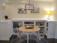 round rug under dining room table! love this look <3 | ::: round