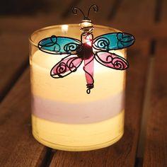 Duftwachsglas GloLite by PartyLite, Geranie-Zitronella,  Aromatische Geranie verleiht den herben Noten der Zitronella einen leicht blumigen Touch. Der perfekte Sommerduft! (ohne Deko)