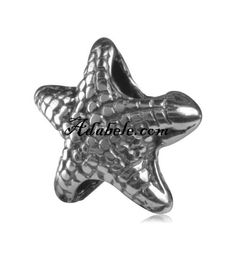 This beautiful starfish .925 Sterling Silver European charm fits Pandora, Biagi Trollbeads, Chamilia, and most charm bracelets find out more at adabele.com