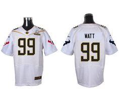 repjerseys.ru Houston Texans #99 JJ Watt White 2016 Pro Bowl Nike Elite Jersey