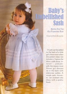 This dress pattern came in the Sew Beautiful magazine a few years ago. its adorable