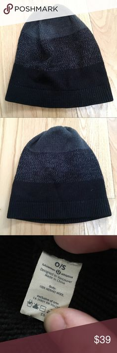 Lululemon Black Grey Striped Beanie Lululemon unisex beanie. Three large gradient stripes. Grey to Black. 100% merino wool. EUC.  🚫 trades. If I want something in your closet badly enough, I'll buy it 😍 Reasonable offers always welcome! lululemon athletica Accessories Hats