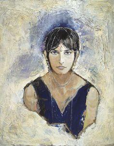 Art Daisy Carpentier Watercolour Drawing Portrait Lady Uniform Oil Painting Painter