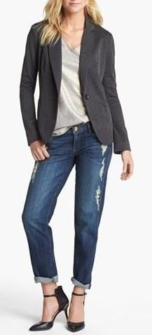 Recreate with @CAbi Clothing Spring 13 Bossy Blazer, Vintage Brandos and Siler and Gold Litd Addition Slouch.  Yeah!