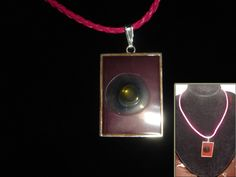 necklace with pink korea pendant