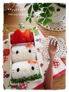 Hello Kitty Rice Bento.