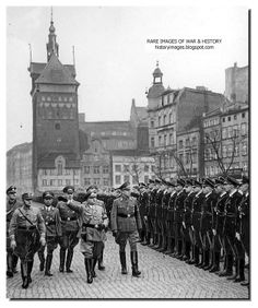Robert Ley takes a guard of honor from the SS in Danzig Robert Ley February 1890 – 25 October was a Nazi politician and head of the German Labour Front from 1933 to He committed suicide while awaiting trial for war crimes. Germany And Prussia, Germany Ww2, Danzig, It Goes Like This, Military Units, Berlin, War Photography, The Third Reich, World War One