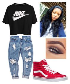 """""""I want to get the late night message from you"""" by brejeasmith on Polyvore featuring NIKE, OneTeaspoon, Vans and Mary Kay"""
