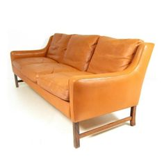 Fredrik Kayser; #965 Teak and Leather Sofa for Vatne Lenestolfabrikk, 1960s.
